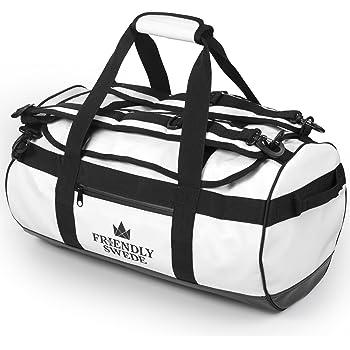 Sac de Voyage et Sport Convertible en Sac à Dos - Duffel Bag - The Friendly Swede (Blanc 30L)