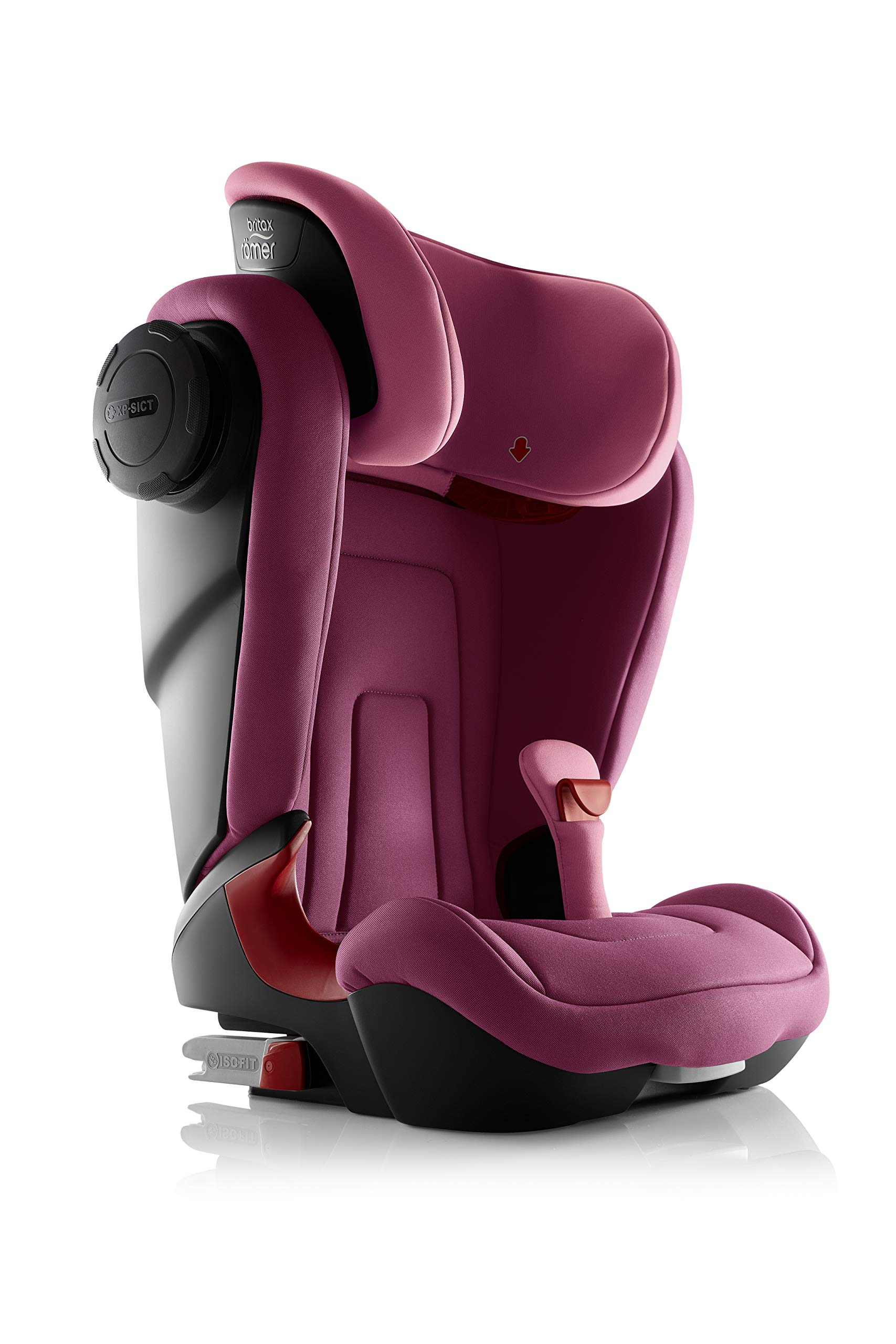Britax Römer KIDFIX² S Group 2-3 (15-36kg) Car Seat - Wine Rose  Advanced side impact protection - sict offers superior protection to your child in the event of a side collision. reducing impact forces by minimising the distance between the car and the car seat. Secure guard - helps to protect your child's delicate abdominal area by adding an extra - a 4th - contact point to the 3-point seat belt. High back booster - protects your child in 3 ways: provides head to hip protection; belt guides provide correct positioning of the seat belt and the padded headrest provides safety and comfort. 4