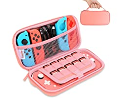 HEYSTOP Case for Nintendo Switch Lite,Protective Hard Portable Travel Carry Case for Nintendo Switch Lite with Storage for Ni