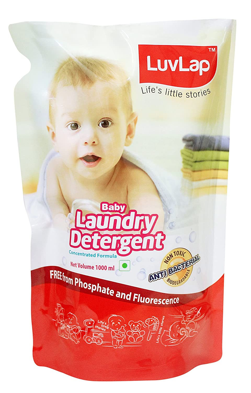 Buy Luvlap Baby Laundry Liquid Detergent Refill Pack (1l) Online At Low  Prices In India  Amazon