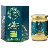 GirOrganic A2 Pure Ghee   100% Desi Gir Cow   Vedic Bilona Method   500 ml Glass Bottle   Grassfed, Cultured, Premium & Tradi