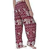 Your Cozy Pantaloni Harem da Donna Boho Genie Aladdin Pantaloni da Yoga a Vita Smock