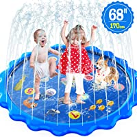 """Toddlers Toy - Splash Pad, Sprinkler & Splash Play Mat for Toddlers, Inflatable Outdoor Party Sprinkler Pad Wading Pool with 5 Patches for Kids Age 2+, Water Toys for Summer Outdoor Garden Beach-68"""""""