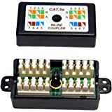 rhinocables CAT5 Verbindungsmodul - Netzwerkkabel Verlängerung/Connection Box für Verlegekabel/LSA Verbinder für Ethernet LAN