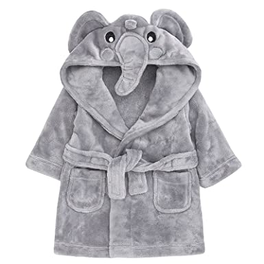 Baby Novelty Dressing Gown Baby Mouse Panda Duck Hooded Face ...