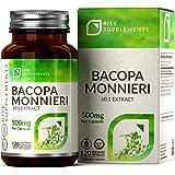 Bacopa Monnieri Compresse (Brahmi) [500 mg] | Supporta Memoria ed Apprendimento | 120 Capsule | Vegano, Senza Glutine, Senza
