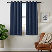 AmazonBasics Room - Darkening Blackout Curtain Set with Grommets - 42
