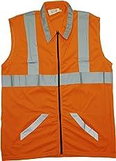 Reflectosafe VOD3 Reflective Jacket 2V+1H, Orange, Medium, Pack of 1