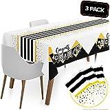 """Graduation Table Cloths Party Supplies 2021 Jumbo 3 Pack 120""""x56"""" - 2021 Graduation Decorations Congrats Grad Table Cover Dec"""