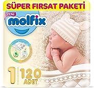 Molfix 3D Bebek Bezi Yenidoğan, Super Fırsat Paketi 120 Adet