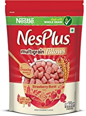Nestle NesPlus Breakfast Cereals, Multigrain Fillows - Strawberry Burst, 250 Grams
