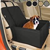 Asiento de coche para perro extra estable - Transportín coche robusto para perros pequeños y medianos - Paredes reforzadas y