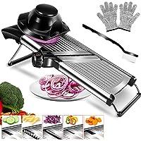 MASTERTOP Mandoline à Légumes Réglable et Multifonctionnelle Coupe-Légumes de Cuisine en Acier Inoxydable pour Couper…