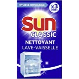 Sun Nettoyant Lave-Vaisselle Expert Boost, Nettoyant machine contre le Calcaire et les Dépôts de Graisse, 3 Doses