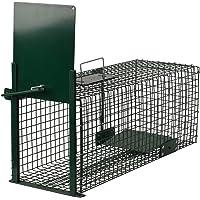 Moorland Piège de Capture - Cage - pour Animaux : Lapin, Rat - Simple à Utiliser - infaillible - 60x23x23cm - avec Une…