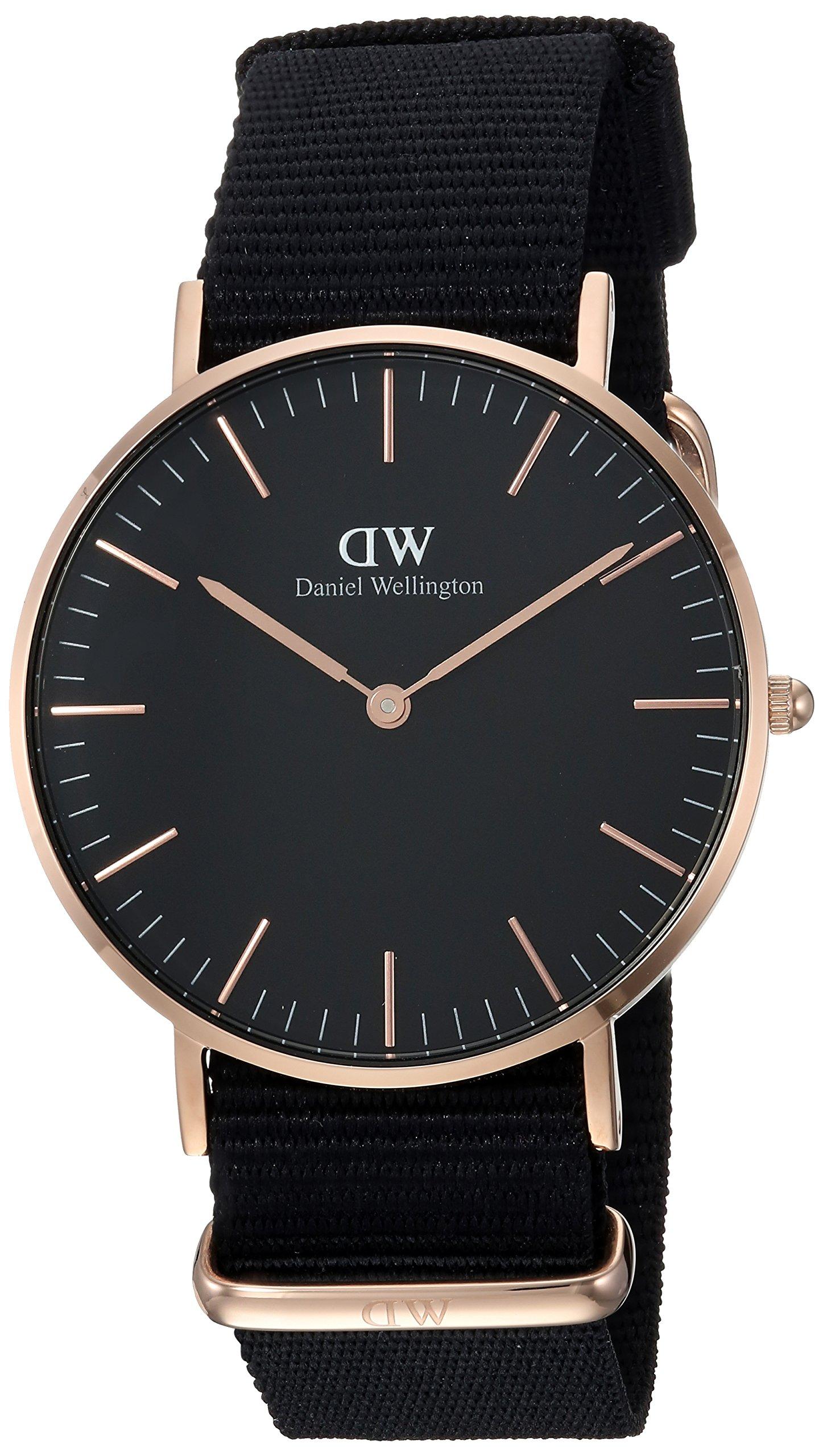 Daniel Wellington Unisex Analog Quarz Uhr mit Textil Armband DW00100150 15