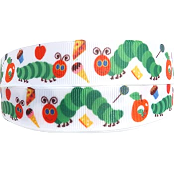 2m X 25mm The Hungry Caterpillar Grosgrain Ribbon For Cake S