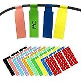 10 couleurs, Paquet de 300, Étiquette de Cables Auto-adhésif Autocollant, Étanche Résistant à la Déchirure, A4