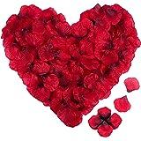 4000pz Petali di Rosa Finti Rossi IDEALHOUSE - Petali di Fiori Artificiale - Sorprese Romantiche Regalo per Matrimonio/San Va
