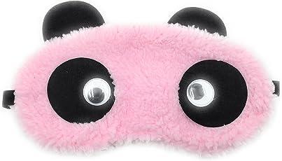24x7 eMall Cute Panda Fabric Eye Shade Blindfold (Pink) - Pack of 1