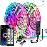 LED Strip Lights 20M Ultra-Long LED Lights Strip Music Sync, App Control with Remote, 600LEDs RGB LED Lights for Bedroom…