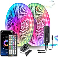 LED Strip Lights 20M Ultra-Long LED Lights Strip Music Sync, App Control with Remote, LED RGB LED Lights for Bedroom…