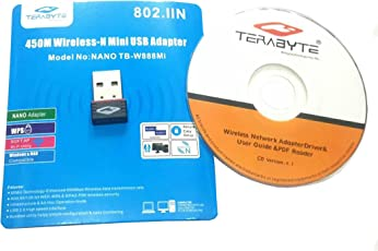 Terabyte USB Nano Mini Wireless 450 mbps WiFi Adapter Dongle (Black)