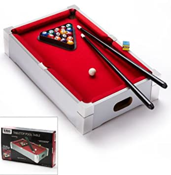 Deluxe Branded Kids Children Mini Tabletop Pool Table Games Sports Snooker  Toy Red Carpet Best On Amazon: Amazon.co.uk: Toys U0026 Games