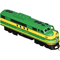 Bachmann Industries E-Z App Smart Phone Controlled Western Pacific #901 FT Locomotive Train, Green & Yellow