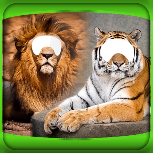 tiger-und-lowe-foto-montage
