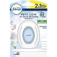 Febreze Petit Coin, Désodorisant WC En Continu Pour Élimination Et Prévention Des Odeurs - Pureté De Coton