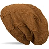 styleBREAKER warme Feinstrick Beanie Mütze mit Zopfmuster und Fleece Innenfutter, Slouch Longbeanie, Unisex 04024131