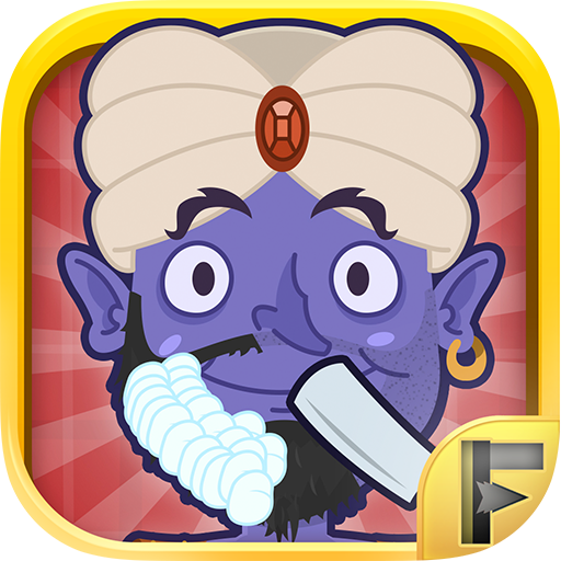 Crazy Barber Shop Shaving Beard And Hair Salon Featuring The Lucky Wish Genie - Shaving Shop