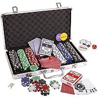 Toyshine 300 pcs Casino Style Poker Chips (11.5 Grams) Set with Aluminium Case