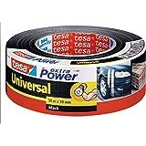 tesa extra Power Universal - Extra sterk klevende ducttape - Textieltape voor universeel gebruik - Zwart - 50 mm x 50 m