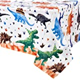 WERNNSAI Dinosaurio Mantel - 1PCS 137 x 274cm Suministros para Fiestas de Dinosaurios para Niños Dinosaurio Decoración para F