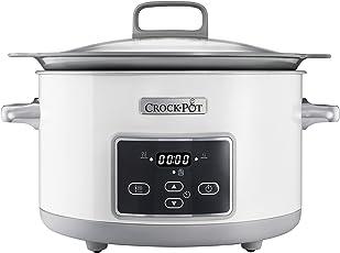 Crock-Pot CSC026X 5 l DuraCeramic Sauté Schongarer - Das Original aus den USA | Slow Cooker | 5 L |  DuraCeramic-Beschichtung