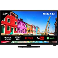 NIKKEI NH3221SMART télévision 81 cm/ 32 Pouces (Smart TV avec WiFi intégré, HD Ready, 1366 x 768, 3X HDMI, 1x USB, VESA…