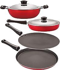 Nirlon Nonstick Rakshabandhan Cookware Esential Combo Gift Set, 4 Piece