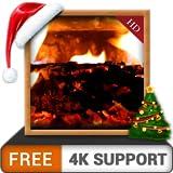 cosy cheminée HD GRATUIT - Décorez votre salle de télévision avec une cheminée romantique chaleureuse sur votre téléviseur 4K et votre périphérique Fire comme fond d'écran et thème pour Mediation & Pe...