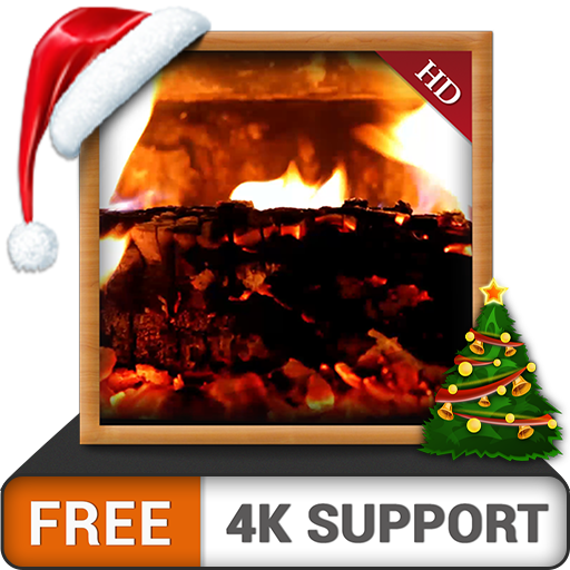 cosy cheminée HD GRATUIT - Décorez votre salle de télévision avec une cheminée romantique chaleureuse sur votre téléviseur 4K et votre périphérique Fire comme fond d'écran et thème pour Mediation & Pe