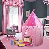 WolfWise Tente de Jeux pour Enfant Tunnel Bébé Maison de Jeux pour Filles Garçons Intérieure Extérieure (Tente 100*120CM, Petite Princesse)