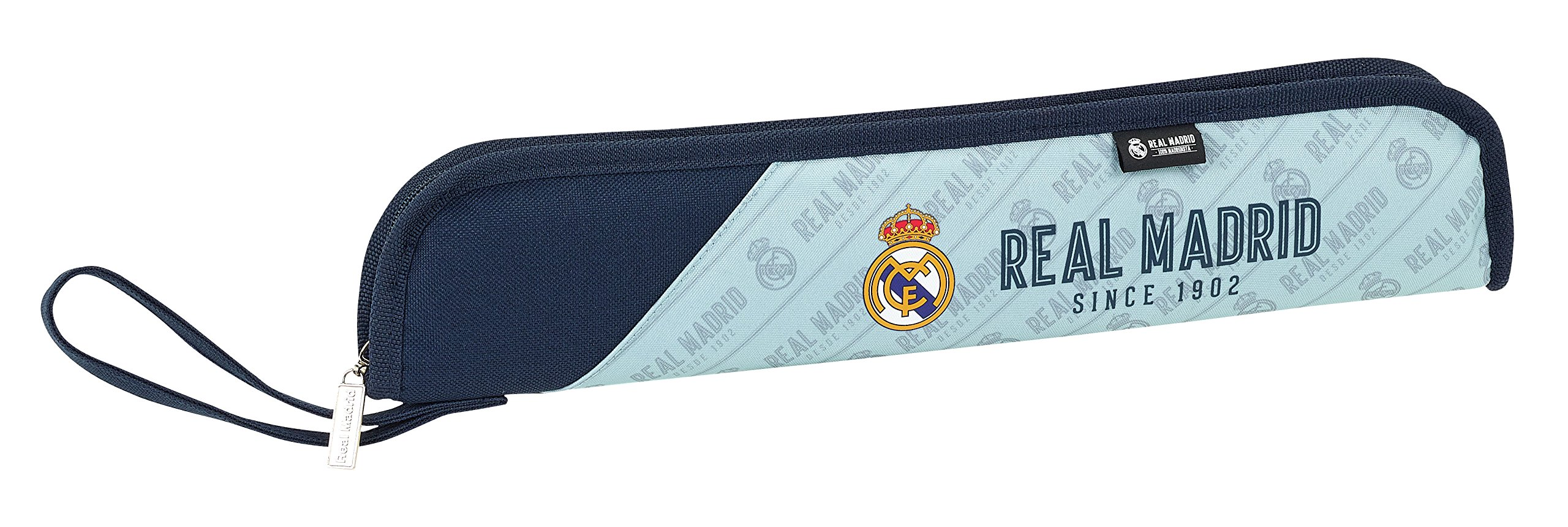 Real Madrid SAFTA Portaflautas Corporativa Oficial Protector Flauta 370x20x80mm