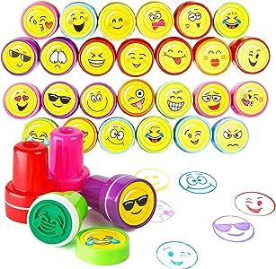 The Twiddlers 36pcs Tampon Encreur Enfant Smiley Emoji Tampons