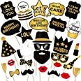 party propz birthday photo booth props 29pcs set with funny crown fun mask hats beard happy face wig mustache prop for boys g