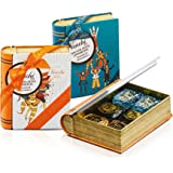 Venchi Scatola Regalo Con Cioccolatini Chocoviar Assortiti, Mini Libro In Latta - Senza Glutine - 115 ml