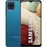 موبايل سامسونج جالاكسي A12 بشريحتين اتصال - شاشة 6.5 بوصة، 128 جيجابايت، ذاكرة رام 4 جيجابايت، 4G LTE - ازرق