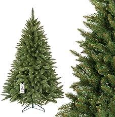 FairyTrees künstlicher Weihnachtsbaum FICHTE Natur, Material PVC, inkl. Metallständer, FT01/ FT11