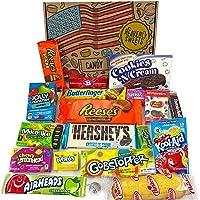 Confezione Media di Snack Americani | Caramelle e Cioccolato per Idea Regalo di Natale e Compleanno | Vasta Gamma tra cui Jolly Rancher Hershey Jelly Belly | 19 Pezzi in Confezione Vintage di Cartone