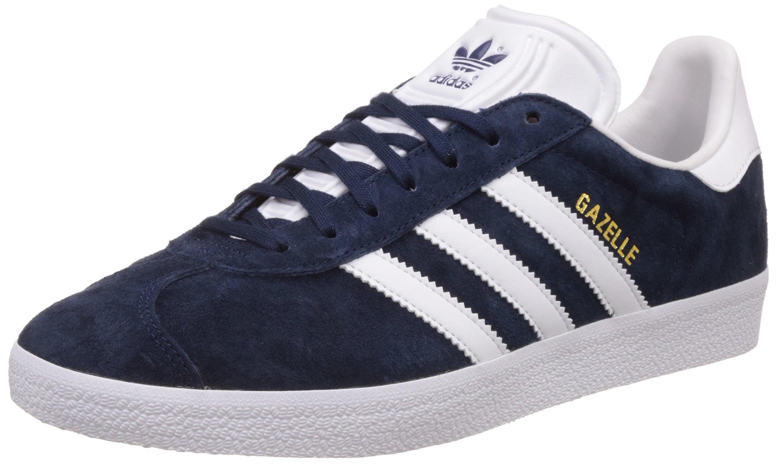 Adidas Originals Gazelle, Zapatillas Unisex Adulto, Varios Colores (Collegiate Navy/White/Gold Metalic), 47 1/3 EU